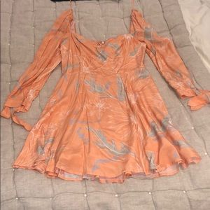 ASTR THE LABEL peach sundress, size SMALL